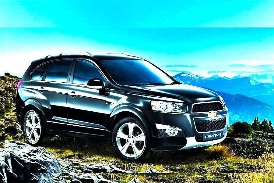 Vehicles - Simotas Car Rental Kefalonia Airport - Car Hire Kefalonia Rent a car - Chevrolet Captiva 7 Seater Automatic 4x4