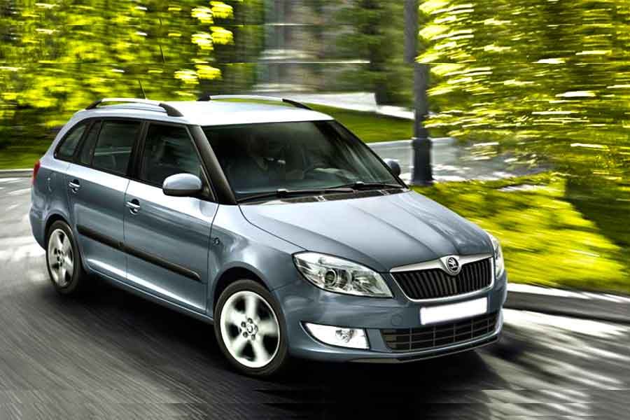 Vehicles - Simotas Car Rental Kefalonia Airport - Car Hire Kefalonia Rent a car - Skoda Fabia Station 1400cc